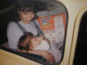 (me as an emerging consumer in the early 1990s in my father's trabant)